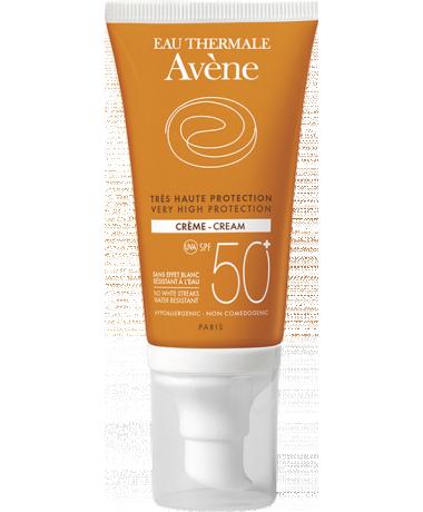 Солнцезащитный крем Avene SPF 50+ оранжевая серия